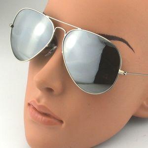 Ray-Ban Sunglasses RB3026 Aviator Silver Frame